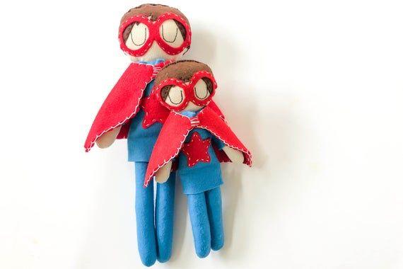 Big Brother / Little Brother Customizable Superhero Gift Set #superherogifts