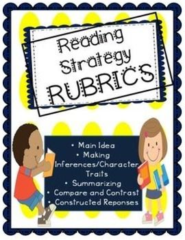 Are your working harder than your students? Allow them to assess their own responses with this amazing bundle of Reading Strategy Rubrics! These rubrics can be used for both primary and intermediate elementary grade levels! There are two rubrics for each strategy and ideal for both nonfiction and fictional text. These rubrics will encourage your students to score their responses based on the criteria of each score, and then modify answers if it is not an exemplary response.