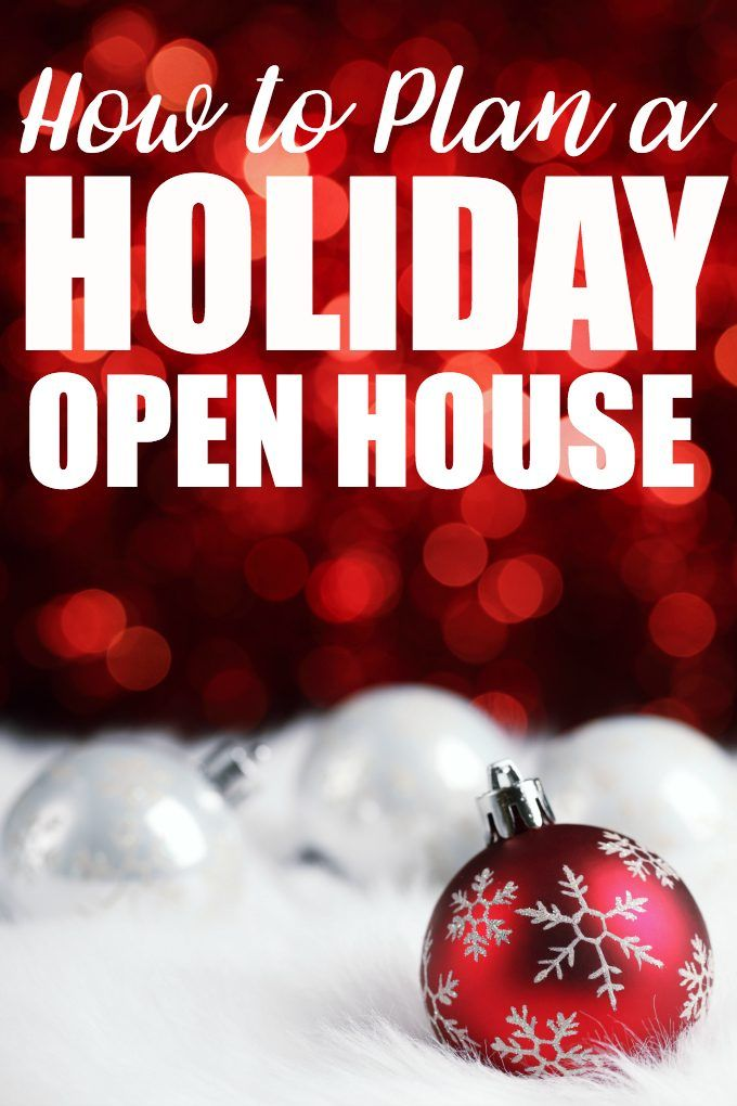 How to Plan a Holiday Open House CHRISTMAS Food \u0027n Traditions