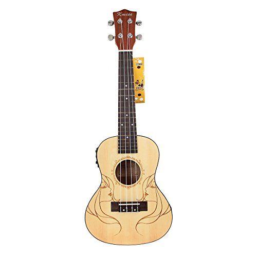 """Kmise Soild Spruce Ukulele 24"""" Electro-Acoustic Concert Ukulele Hawaii Guitar Kmise® http://www.amazon.com/dp/B010DEU45I/ref=cm_sw_r_pi_dp_8yakwb06V0W3V"""