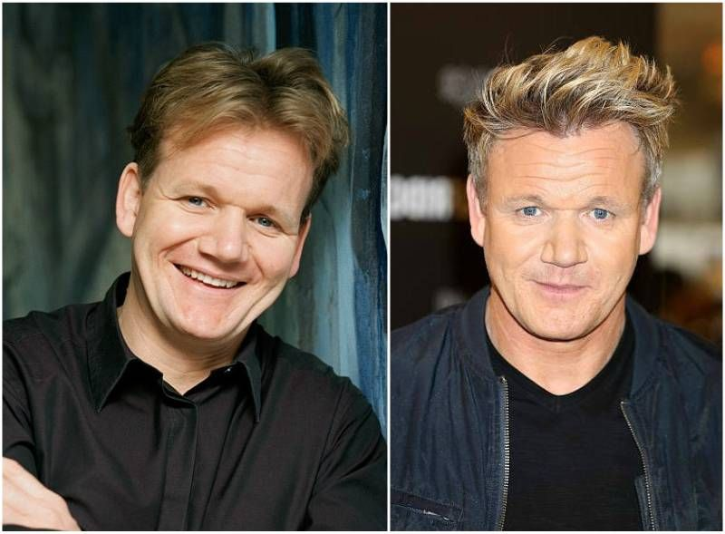 gordon ramsay s eyes color blue and hair color blonde chefs