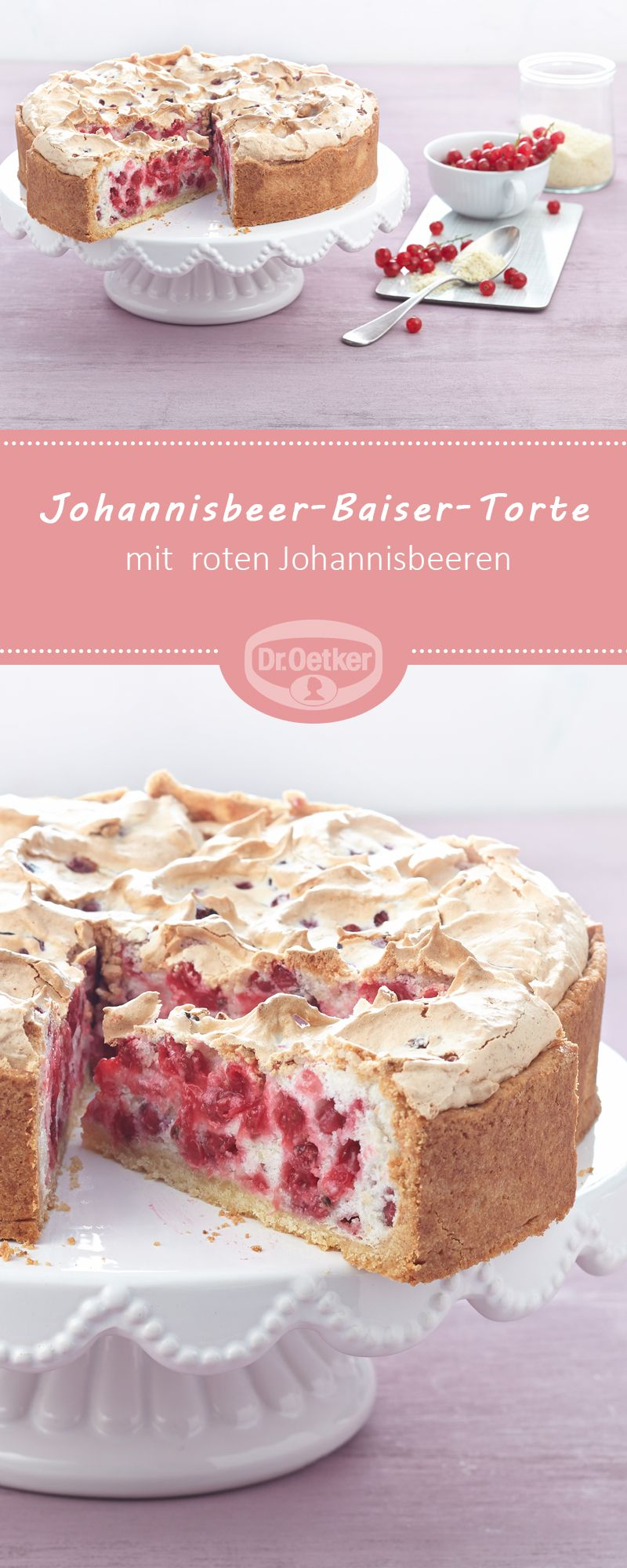 Johannisbeer Baiser Torte Traublestorte Rezept Bake Factory