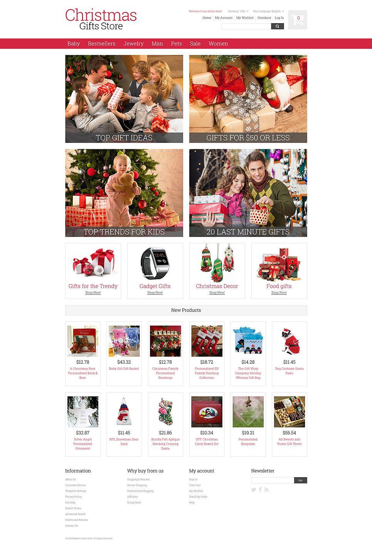 Christmas Gifts Magento Theme 52015 Templatemonster Magento Themes Christmas Gift Store Holiday Templates