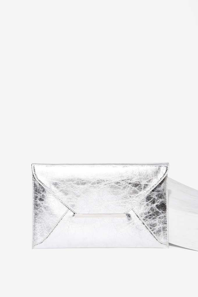 You've Got Mail Metallic Envelope Clutch | Shop Accessories at Nasty Gal!