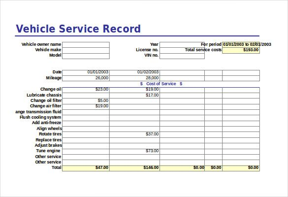 Free excel template 20 free excel documents download free for Fleet management report template