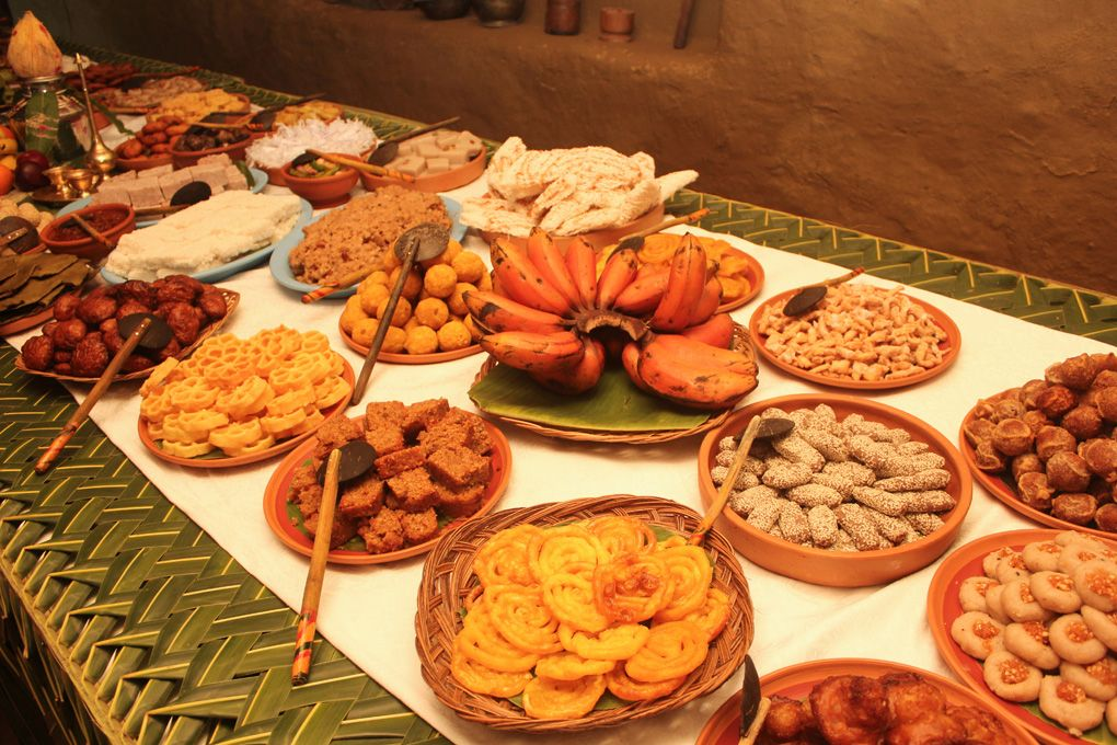 Traditional sweetmeat table Sinhala and Tamil New Year