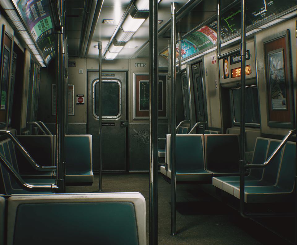 Ue4 City Subway Train On Cubebrush Co City Aesthetic Subway Train Urban Photography