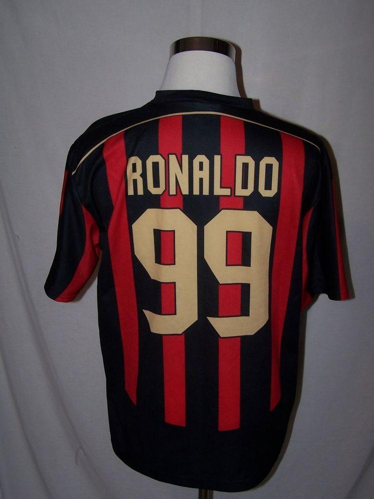 71dbf6369 Ronaldo  99 AC Milan Soccer Jersey Football Shirt Men s XL Official OLP