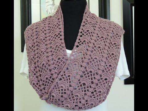 Crochet: Bufanda de Abanicos - YouTube | cat crochet applique ...