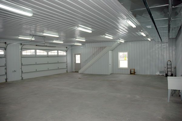 Burchett Finished Garage Workshop Ideas Pinterest Pole Barn Garage Finished Garage And