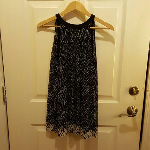 Awesome black party blouse Sleeveless Blouse with long straps to tye in back around neck,beautiful Kenar Tops Tunics