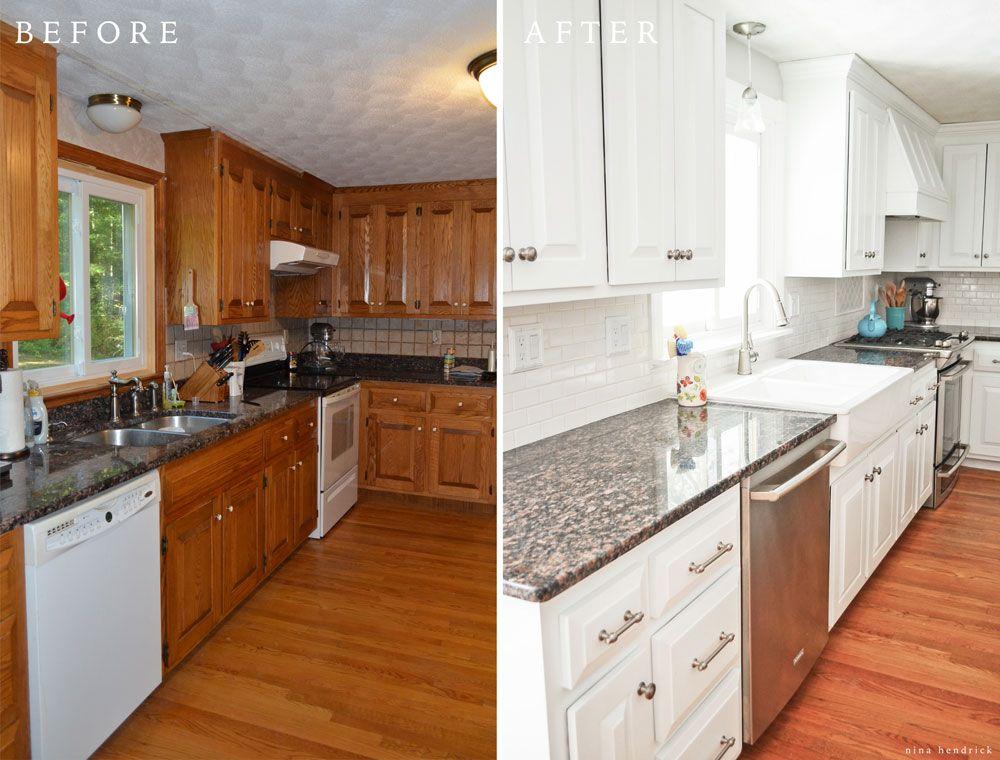 Kitchen Nina Hendrick Home Painting Kitchen Cabinets White