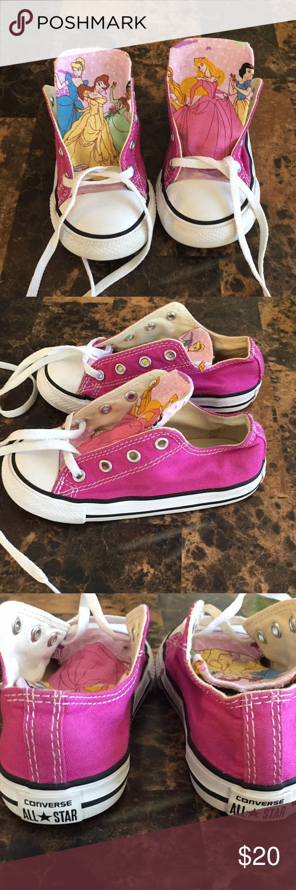d6b4f6e204c4 Converse toddler sneakers size 9 Good used condition.The Disney character  material was put on