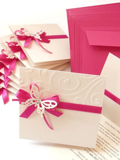 Texto para invitaciones de boda – Butterfly Wedding Invitation Cards