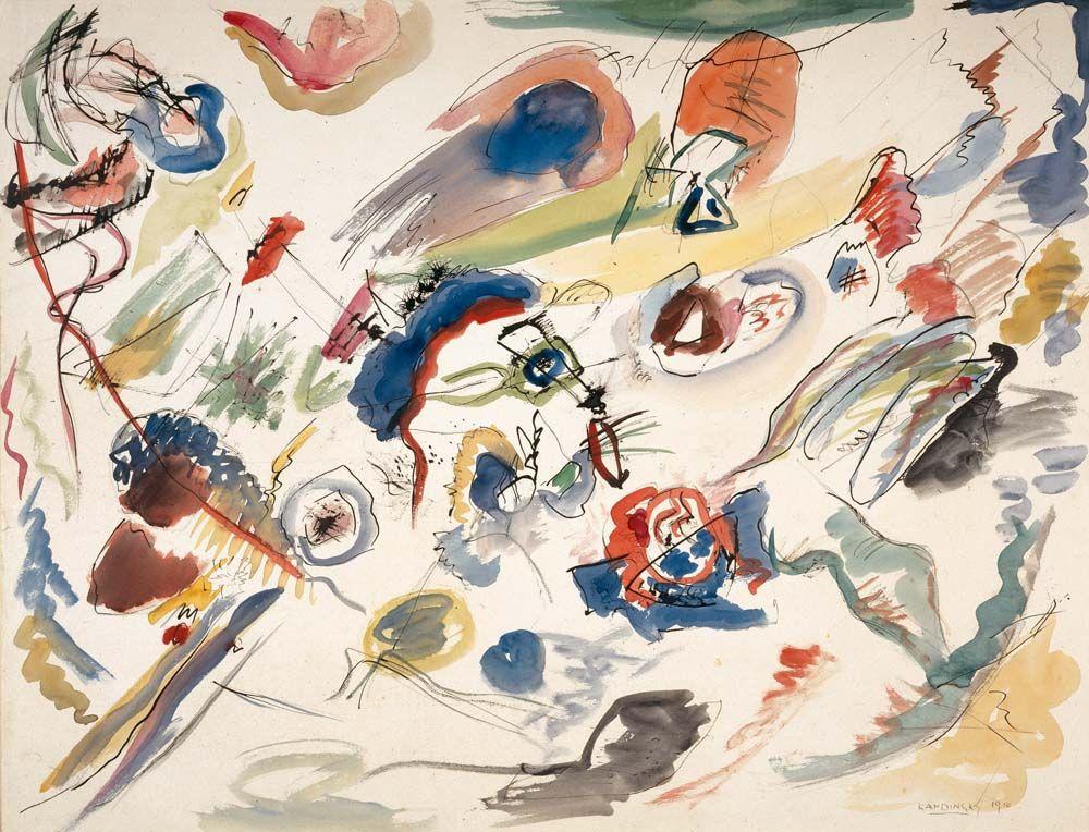 Bustling Aquarelle C 1923 Wassily Kandinsky Print At Amazon Com