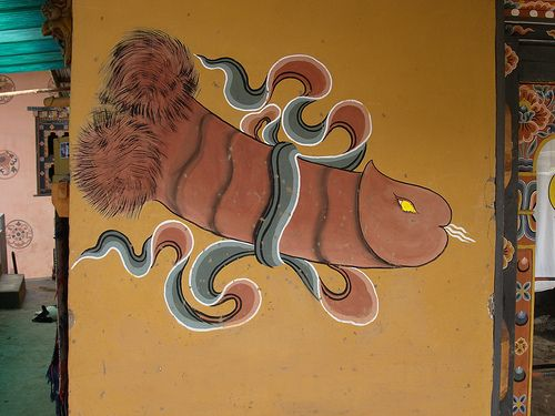 Phallic Symbol Art Common In Bhutan Pinterest Bhutan And Symbols