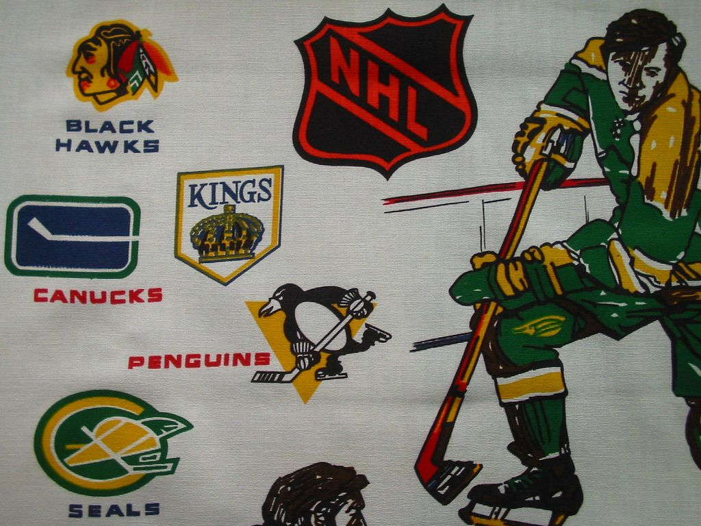 Superior Vintage Hockey Bed Sheets | NHL I Thought These Was Cool When I Was Young