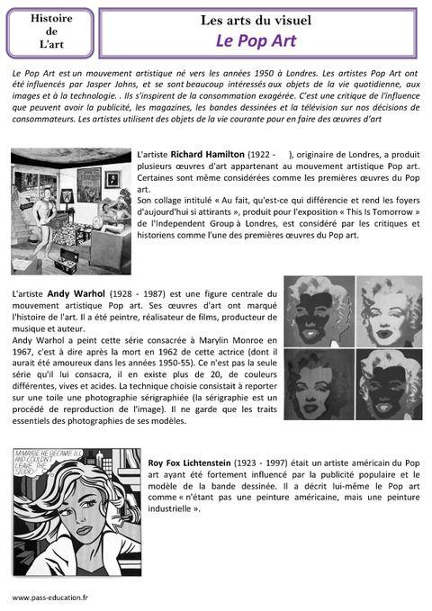 Connu Le Pop Art et la photographie | Dessins | Pinterest | Pop art, La  TH06