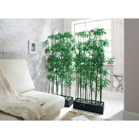 Kunstpflanze Bambus-Raumtrenner, Kunststoff, ca H140 cm - bambus im wohnzimmer