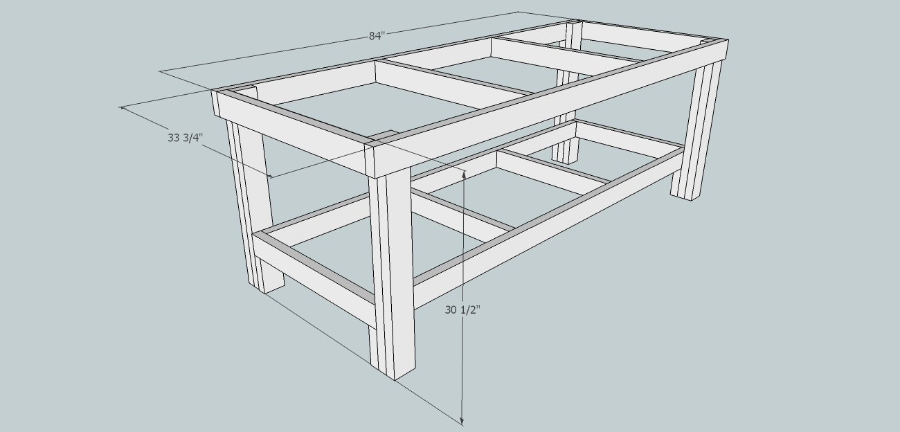 Furniture Design Golden Ratio golden ratio workbench frame #sketchup #goldenratio #workbench
