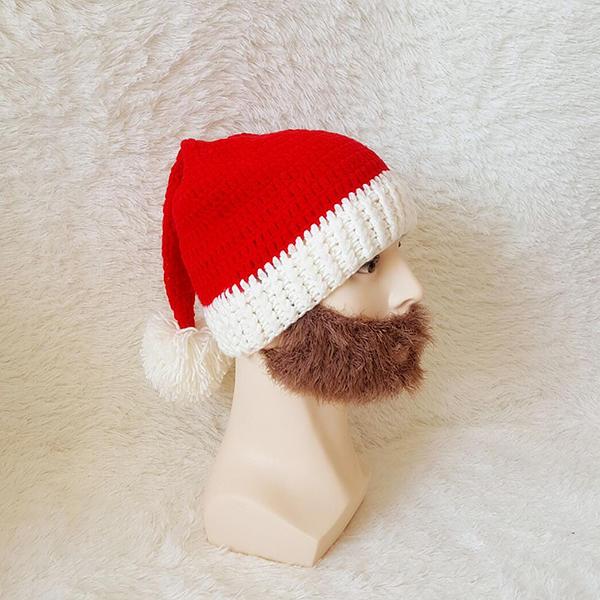 998e6911895 Men Unisex Winter Knitted Santa Claus Beanie Hats Skull Face Mask For  Christmas Gift