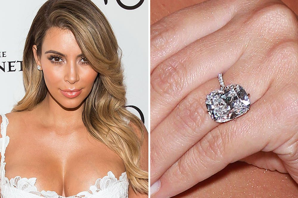 kim kardashian accepted stunning 15 carat lorraine schwartz diamond ring from kanye he