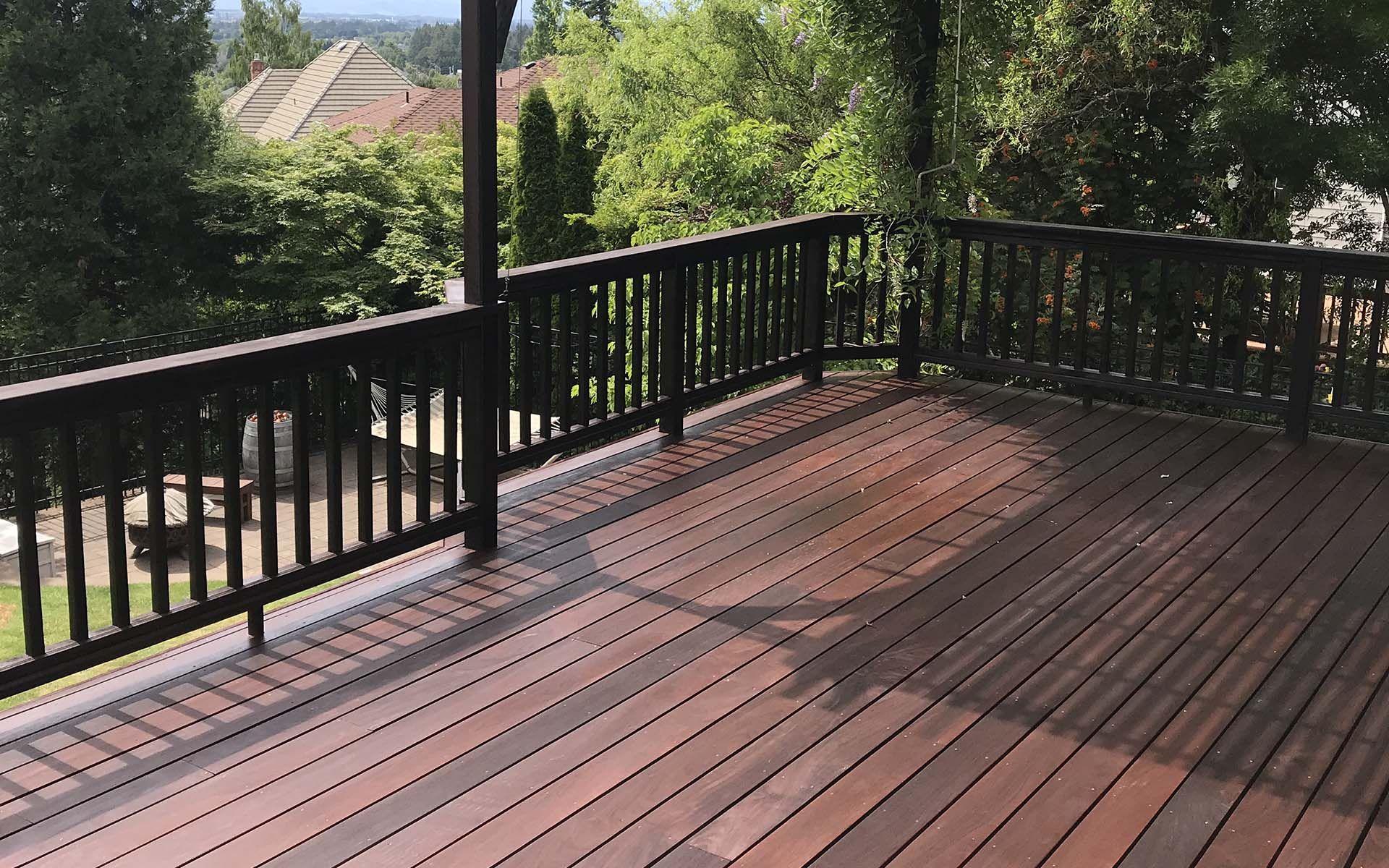 Hardwood_Decking_1. ipe-deck-exoshield-walnut.jpg in 2020   Wood deck, Hardwood  decking, Small deck patio