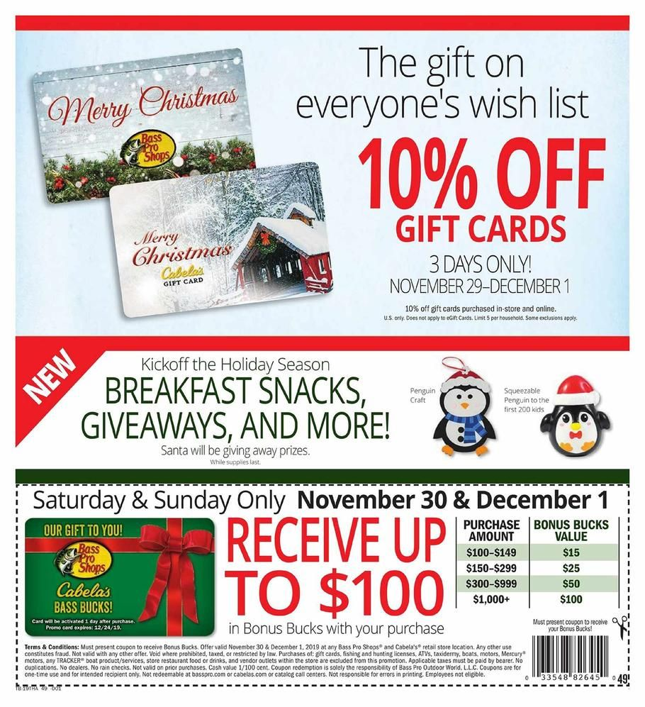 Cabelas And Bass Pro Shops Black Friday Ad Scan Deals And Sales 2019 Black Friday Ads Black Friday Shopping Bass Pro Shops