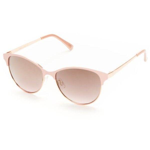 4cb0e6c03ca Tahari Rose Gold Rose Half-Rim Glam Combo Sunglasses ($39) ❤ liked ...