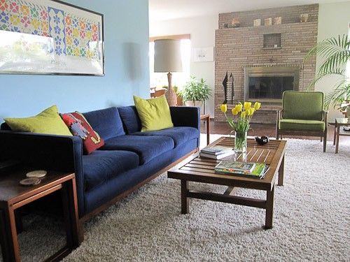 Great color scheme for my living room! Mid-Century Modern Room Inspirations — SoEclectic