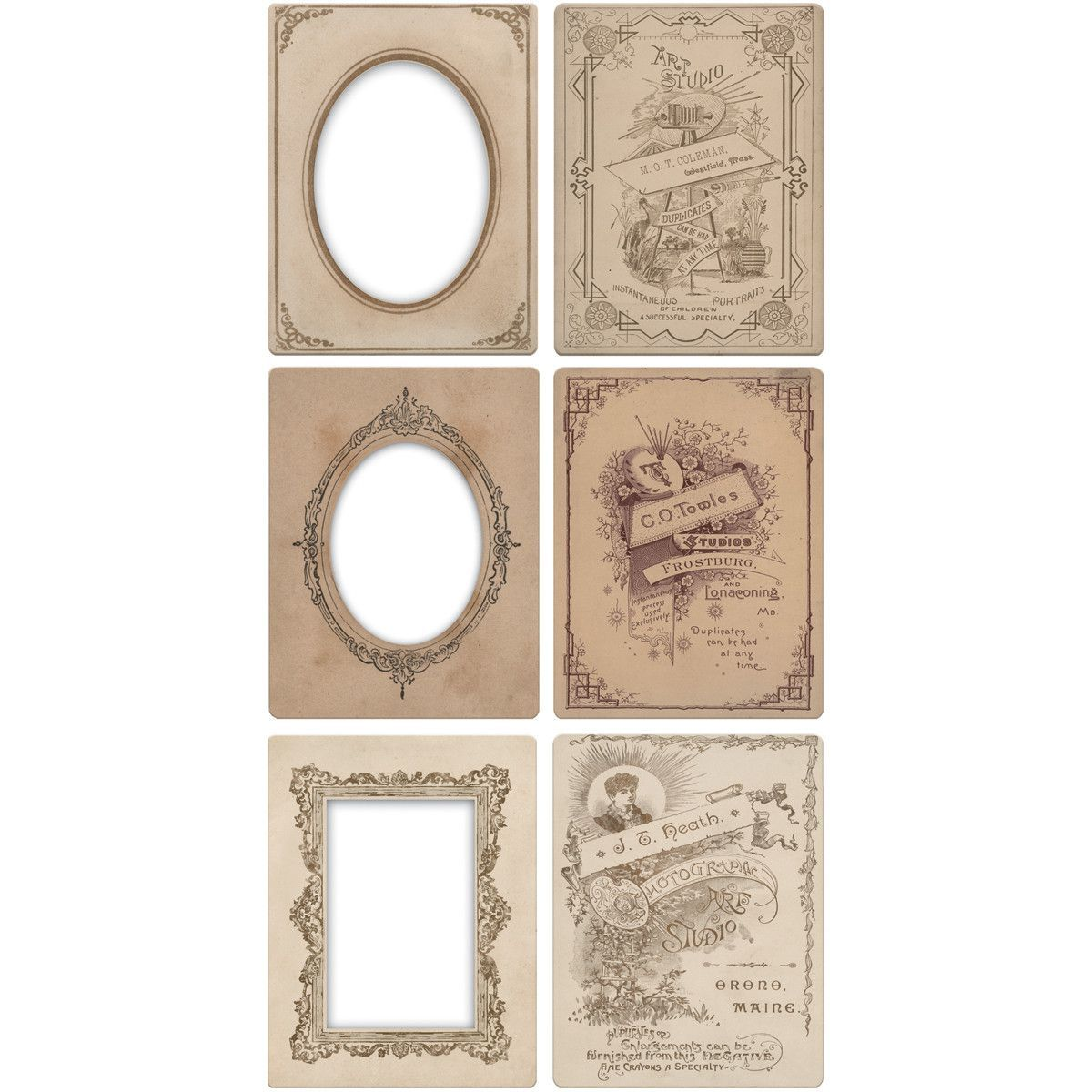 "Idea-Ology Mini Cabinet Card Frames 6/Pkg-Holds 3""""X4"""" Photos"