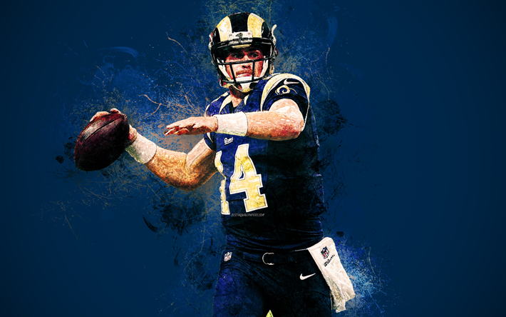 Download Wallpapers Sean Mannion 4k Art Los Angeles Rams