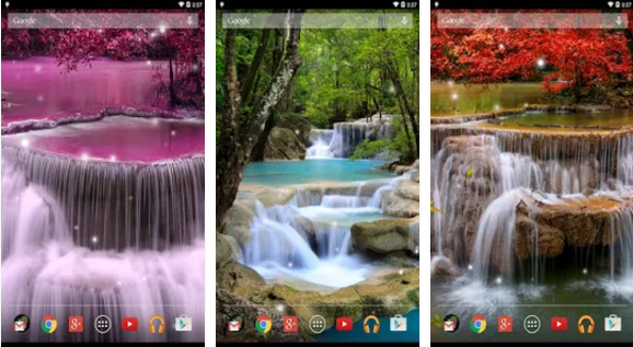Waterfall Live Wallpaper For Android App Free Download Android Wallpaper Live Wallpapers Waterfall