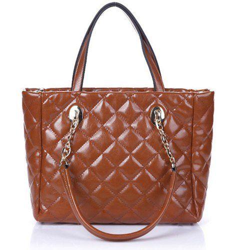 Fineplus Women's New Fashion Popular Quilty Leather Handbag Shoulder Bag