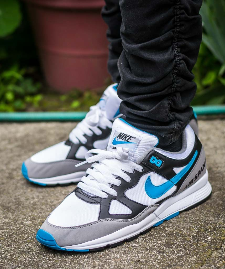Nike Air Span II Laser Blue On Feet Sneaker Review  cd3ab0901