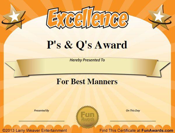free funny award certificates templates sample