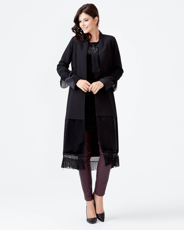 5422d3e9c8da3 Kadife Detaylı İç Bluzlu Tunik Takım - Siyah - Seçil Store ...