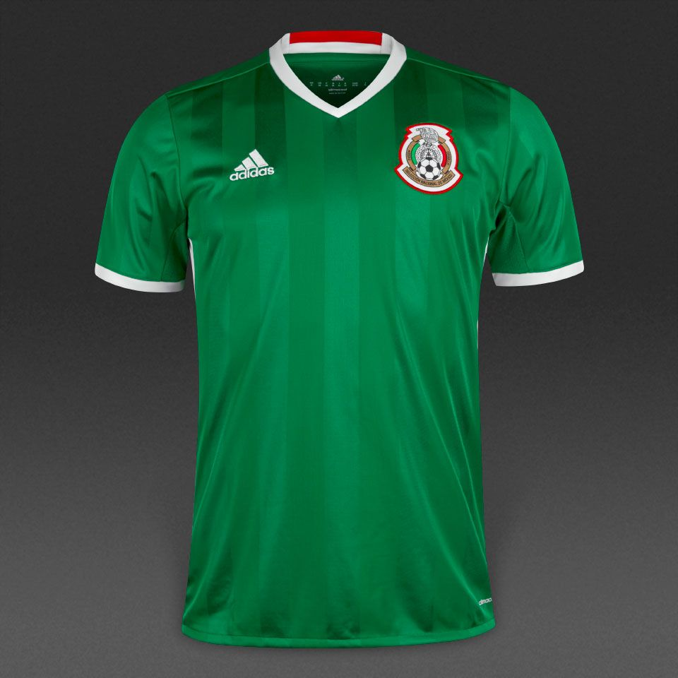 adidas Mexico 15/16 Home Shirt - Mens Replica - Shirts - Green/Red/White