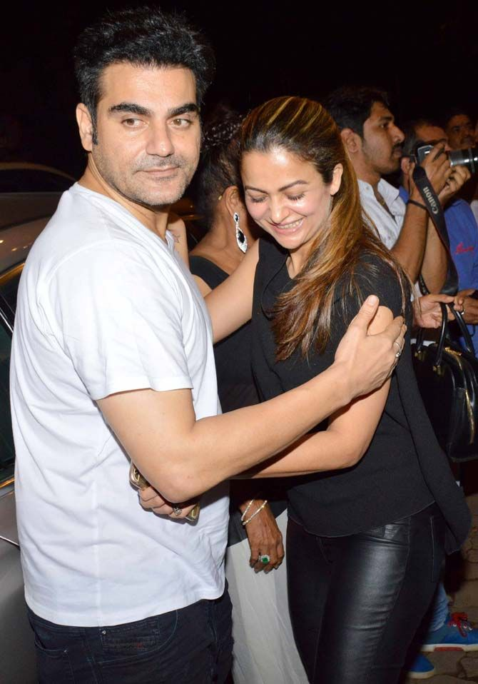 Arbaaz Khan and Amrita Arora on a dinner outing with family. #Bollywood #Fashion #Style #Beauty #Sexy