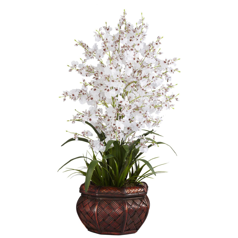 David Shaw Silverware NA LTD Dancing Lady Silk Flower Arrangement, White