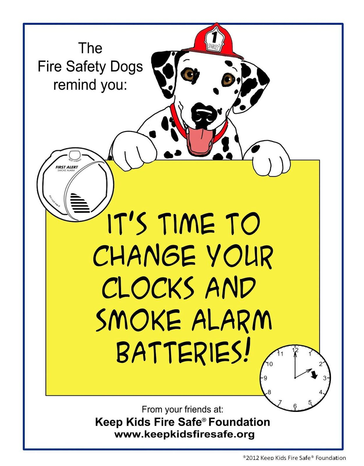 Change Time Change Batteries In Smoke Detector Page It S Time To Change Your Clocks And Smoke Alarm Batt Fire Safety Smoke Alarms Fire Safety Preschool