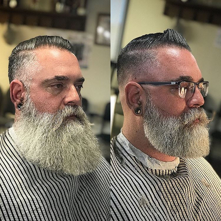 "Photo of BEARDS IN THE WORLD on Instagram: ""@bearded_tok at @barberclaysholly TOP BARBERS IN THE WORLD 🤜#beautifulbeard #beardmodel #bärtig  #baard  #bart #barbu #beard #beards #barba…"""