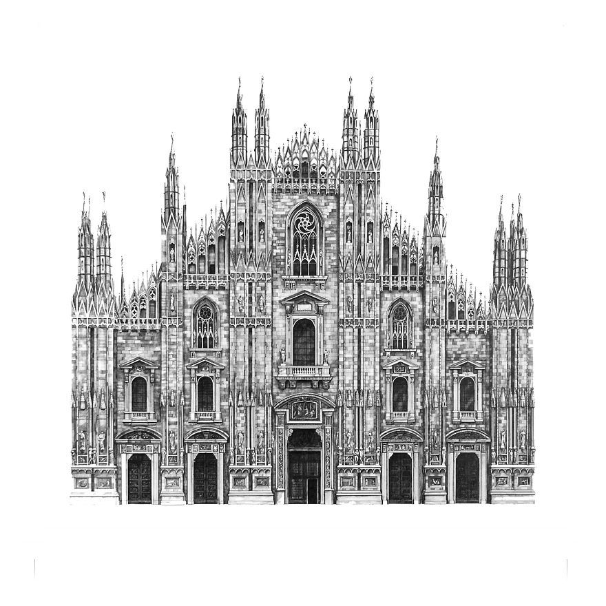 architecture buildings drawings. Design Is In The Details: My Photorealistic Drawings Of Famous European Buildings Architecture