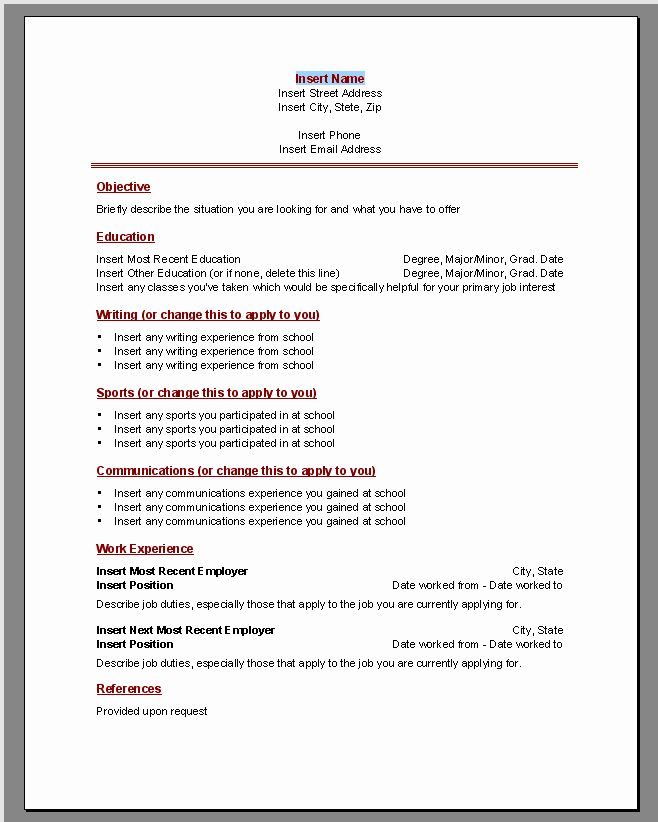 25 microsoft word resume templates 2010 in 2020  with