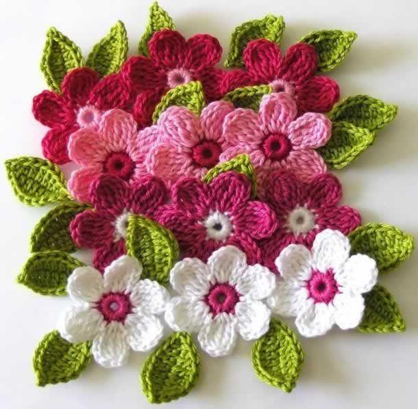 Flores de Crochê: 50 Gráficos para Baixar → (Downloads)   Flores ...