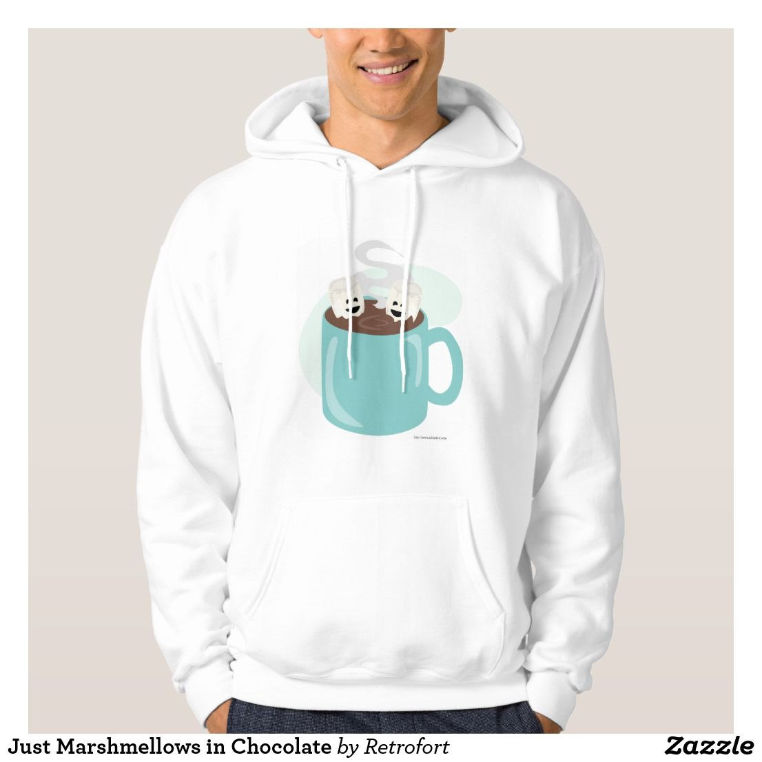 Just Marshmellows in Chocolate Hoodie | Zazzle.com #cutemarshmallows