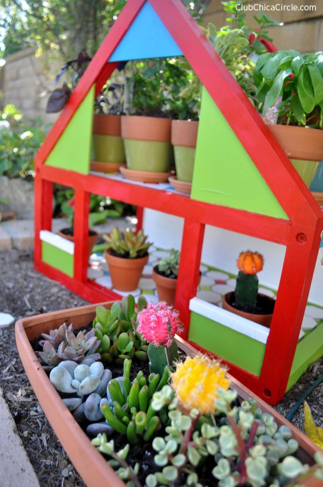 Upcycled Dollhouse Herb Garden Spring Craft DIY | Decorate | Garden ...