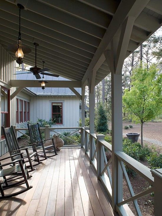 X Railing On Porch. Board And Batten Barnwood Design, Pictures, Remodel,  Decor And Ideas   Page 28