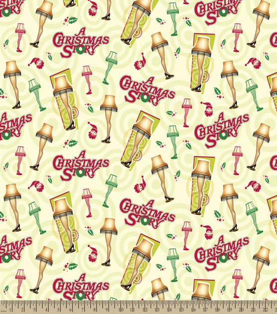 A Christmas Story The Leg Lamp Print Fabric comes with prints of the