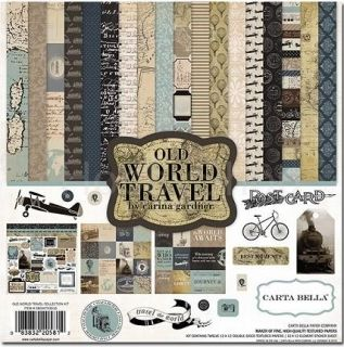 Carta Bella Old world travel collection kit 12x12 inch